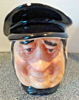 Ceramic Charles Dickens Toby Mug Mr Peggotty By Nanco Pre-owned, Chips On Cap