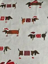 Dachshund dog fabric for Christmas, Xmas, fat quarter, beautiful feel to it