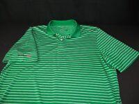 RLX Ralph Lauren Green White Stripe Polo Style Short Sleeve Golf Shirt L