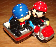 Motorcycle Side Car Ceramic Salt & Pepper Shakers (Attractives, 8615) Magnetic