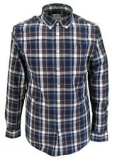 Farah Long Sleeved Oxblood Checked Button-Down Shirts