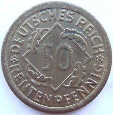 alto! 50 MARCHI RENTENPFENNIG 1923 A in ECCELLENTE RARI
