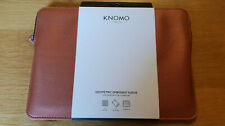 "Knomo London Geometric Embossed Sleeve For Macbook 12"" and 12"" Laptops Bronze"