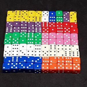 10× 7mm d6 spot dice various colours/plus pick your custom sets