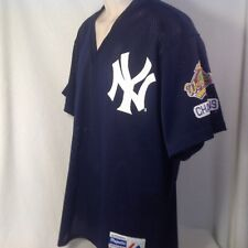 VINTAGE NY YANKEES JERSEY XL MENS 1996 WORLD SERIES CHAMPIONS MLB MAJESTIC