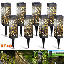 8 X Led Landscape Solar Lights Waterproof Wall Light Garden Lawn Path Lamp Us