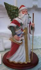 "Porcelain Santa Victorian Christmas Heirloom 12"" + Coa Nib 1988 Franklin Mint"