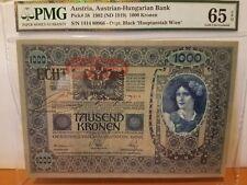 austria 1000 kronen PMG 65 gem pop1best only graded UNC