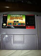 RARE Mario All Stars + World Super Nintendo Retro Snes Cart Luigi Yoshi Bowser