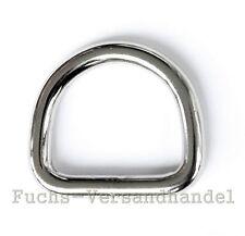 D-Ringe EDELSTAHL 20,25,30,40,50 mm Metallringe D Ring Halbrundringe Halbrund
