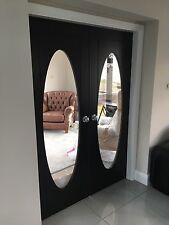 Oval Glass Glazed Zanzibar Colour Dark Black Oak Internal Door. Rrp £350