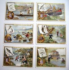 1899's Trade Card Set - Liebig's Fleisch-Extract - Fishing Pictures  *