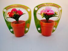 Lots2 Solar Powered Dancing Flower  Red Pink Rose