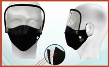 2 in 1 Washable Face Mask With Filter And Eye Shield