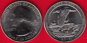 "USA Quarter (1/4 dollar) 2018 D mint ""Block Island, Rhode Island"" UNC"