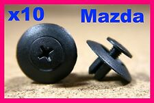 10 MAZDA door card trim panel fascia grille cowling vent screw fastener clip