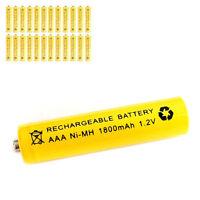 24 pcs AAA 3A 1800mAh 1.2V Ni-MH rechargeable battery Solar Light MP3 RC Yellow