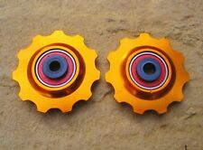 MT ZOOM ORANGE Ceramic Bearing Alloy Jockey Wheels 11T PAIR fits shimano sram