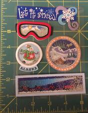 Alaska 3D Winter Shaker Stickers - scrapbook - loose beads in stickers, unique!