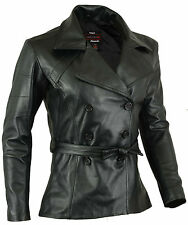 Classic 70's Womens Leather Coat Ladies Jacket Lamb Skin size M