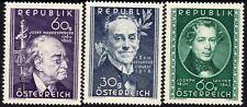 Austria 1950 Madersperger,Giradi,Lanner unmounted mint SG1211/1223/1229 (3)