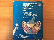 Automotive Emission Control and Tune-Up Procedures - Third Edition