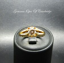 18ct Gold Diamond Gypsy Solitaire Ring Size Q 5.6g 0.65 carats