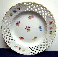 Antico PIATTINO piatto ceramica MEISSEN TRAFORATO, epoca '800/'900