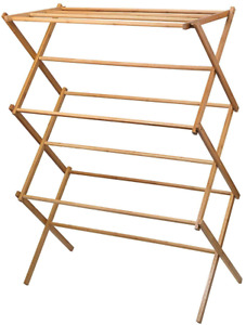 Home-it clothes drying rack - Bamboo Wooden clothes rack - heavy duty cloth