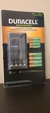 DURACELL Charger With 4 AAA And 4 AA Batteries  NEW