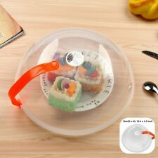 Food Grade Microwave Food Plate Cover Anti Splatter Plate Lid with +Handle oule
