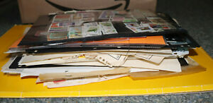 Sorting Box With Thick Bundle of Album/Stock Pages (1.5kg) '000's Stamps