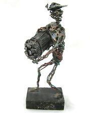 Metal Wire Folk Art Vintage Wood Worker Logger Brutalist C Serraty Figurine MCM