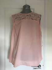 Dorothy Perkins Size 20 Blush Lace Insert Shell Top
