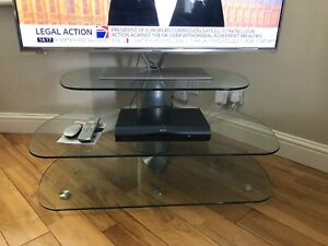 3 piece OVAL glass TV stand RRP £355