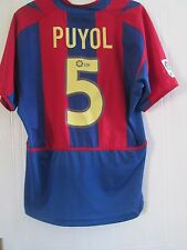Barcelona 2002-2003 Home Puyol 5 Football Shirt Size Large /41589