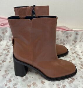 NEW! M&S Autograph Marks & Spencer UK5.5 biscuit (brown) leather ankle boots