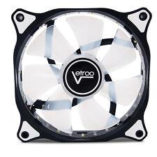 120mm DC 15 LED Cooling Case Fan PC Computer Quiet Edition CPU Desktop White