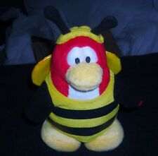 "DISNEY CLUB PENGUIN BUMBLE BEE 7"" PLUSH BEAN BAG TOY"