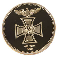 1PC German Eagle Cross Commemorative Coins 40mm Colleatable Coin Gold Gift