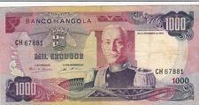 BILLET BANQUE ANGOLA 1000 escudos 1972 état voir scan 881