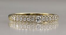 Ladies Diamond engagement ring with pave set shoulders Hattton garden made .50ct