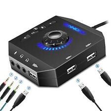PHOINIKAS External Sound Card, USB Audio Adapter with 3.5mm Headphone and