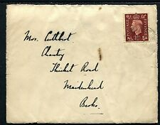 GB 1½d KGVI cover (entire) from HMS Harrier