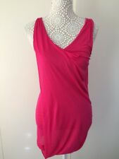 Mesdames DKNY rose chaud gilet/robe-Taille S