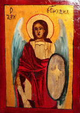 Archangel Michael Hand Painted Tempera Orthodox Icon