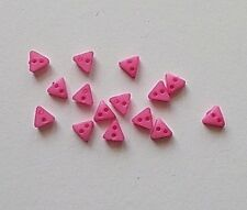15 x 2 hole Pink  Rosy Triangle Resin buttons Sewing  6 mm