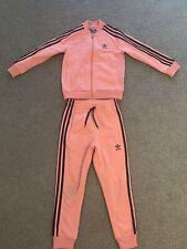 Girls Adidas Originals Pink Tracksuit Age 6-7