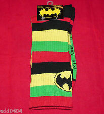 DC Comics Batman Socks 1 pr Crew Socks Stripes/Bat Signals Mens shoe size 6-12