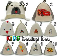 Children Sauna hat, Banya cap, Saunahut, Saunahattu, כובע לסאונה, wool felt